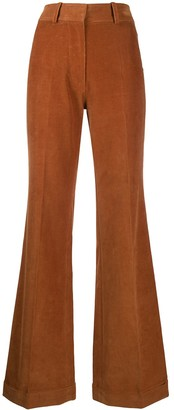 Victoria Beckham High-Rise Flared Corduroy Trousers