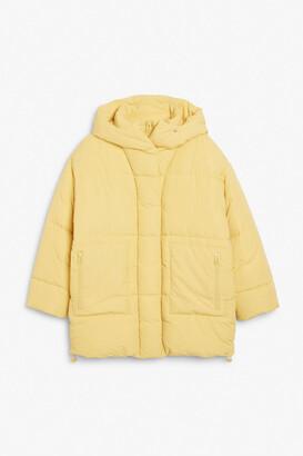 Monki Oversized puffer jacket with hood