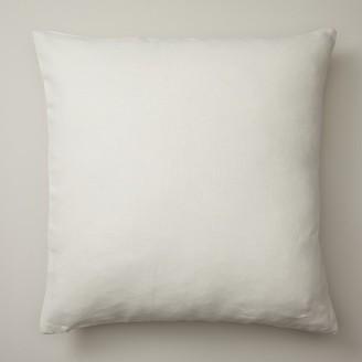 """Indigo Ivory Linen Pillow Cover 20"""" X 20"""""""
