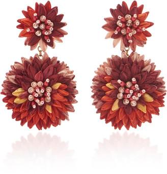 Mignonne Gavigan Scarlett Raffia Bead And Crystal Earrings
