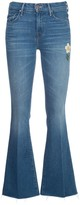 Mother Denim Embroidered Flower Flared Jeans