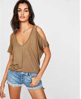 Express one eleven double strap cold shoulder london tee