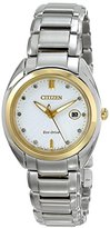Citizen Eco-Drive Women's EM0314-51A Celestial Analog Display Two Tone Watch