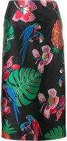 Valentino Tropical Dream jacquard skirt - women - Silk/Polyester/Metallic Fibre - 38