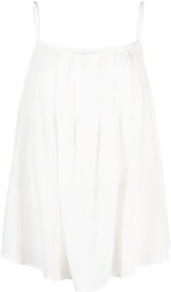 FEDERICA TOSI Draped Camisole Silk Top