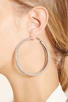 Forever 21 FOREVER 21+ Spiral Etched Hoop Earrings