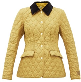 Burberry Lydd Quilted Shell Barn Jacket - Beige