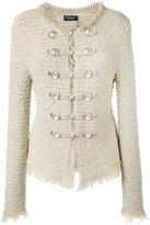 Twin-Set boucle military jacket - women - Cotton/Polyamide/Polyester/Viscose - XS