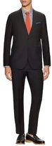 Armani Collezioni Wool Solid Peak Lapel Suit