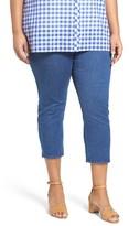 Foxcroft Plus Size Women's Nina Slimming Pull-On Capri Jeans
