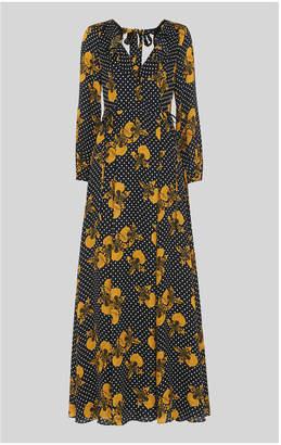 Whistles Kira Spot Floral Maxi Dress