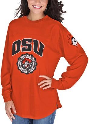 Women's Orange Oklahoma State Cowboys Edith Long Sleeve T-Shirt
