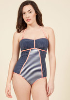 Delight On Deck One-Piece Swimsuit in Navy in XXL