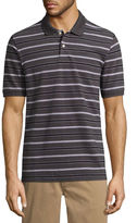 ST. JOHN'S BAY St. John's Bay Short Sleeve Stripe Pique Polo Shirt
