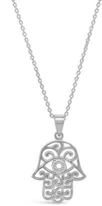Sterling Forever Sterling Silver Filigree Hamsa Hand Pendant Necklace