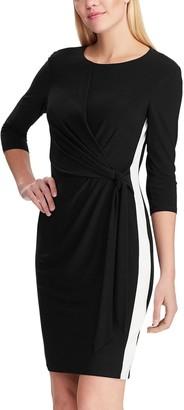 Chaps Women's Elbow Sleeve Sheath Dress