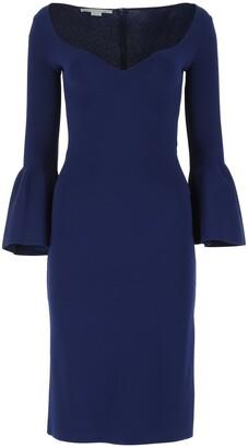Stella McCartney Flared Sleeves Midi Dress