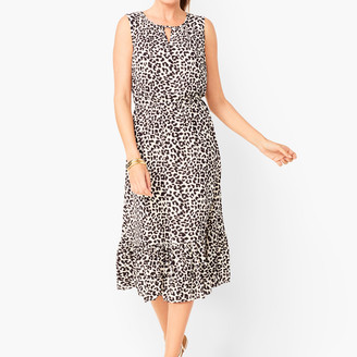 Talbots Leopard-Print Midi Dress
