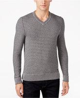 HUGO BOSS Orange Men's Pattern-Blocked V-Neck Sweater