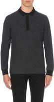 Burberry Contrasting-trim cotton-piqué polo shirt