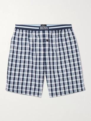 HUGO BOSS Checked Cotton Pyjama Shorts