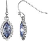 Lauren Conrad Blue Marquise Halo Drop Earrings
