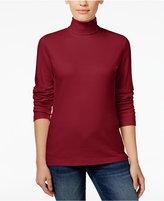 Karen Scott Long-Sleeve Turtleneck, Only at Macy's