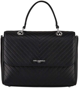 Karl Lagerfeld Paris Charlotte Quilted Leather Shoulder Bag