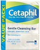 Cetaphil Gentle Cleansing Bar 3-Count 4.5 oz. (Pack of 6)