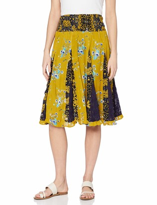 Joe Browns Women's Mellow Yellow Godet Skirt 10