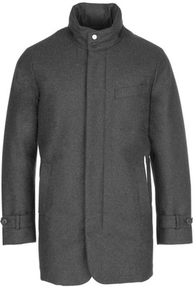 Norwegian Wool Slim-Fit Hooded Wool Down Car Coat