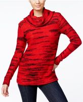 Kensie Space-Dyed Cowl-Neck Sweater, A Macy's Exclusive Style