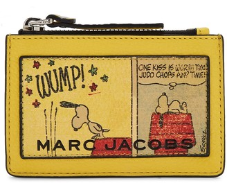 Marc Jacobs X Peanuts printed leather card holder