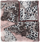 Jimmy Choo printed lace patch scarf