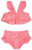 Hula Star Girls' Metallic Dot Two Piece Swimsuit - Sizes 2T-6X