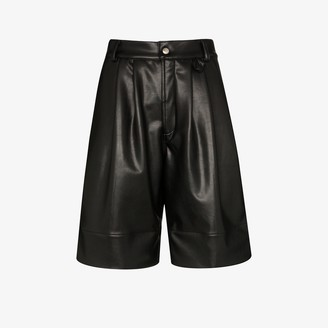 Markoo Faux Leather Shorts