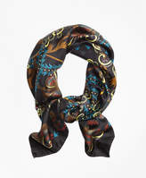 Brooks Brothers Silk Chrysanthemum Square Scarf