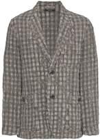 Issey Miyake Shrink check jacket