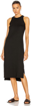 Enza Costa Matte Jersey Side Slit Sheath Dress in Black | FWRD