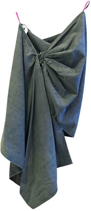 Bernhard Willhelm Grey Wool Skirt for Women