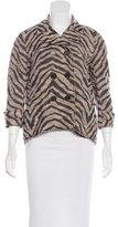 Gryphon Double-Breasted Zebra Patterned Jacket