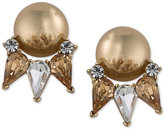 Trina Turk Gold-Tone Sphere and Crystal Stud Earrings