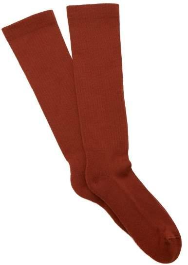 Rick Owens Wool Blend Mid Calf Socks - Mens - Orange