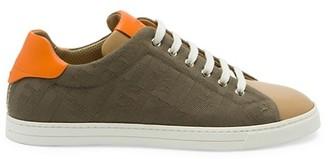 Fendi FF Canvas Low-Top Sneakers