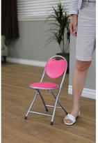 Homecraft Furniture Home Craft Kids Metal Folding Chair in Pink