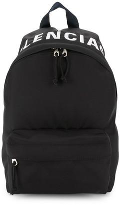 Balenciaga Wheel logo printed backpack
