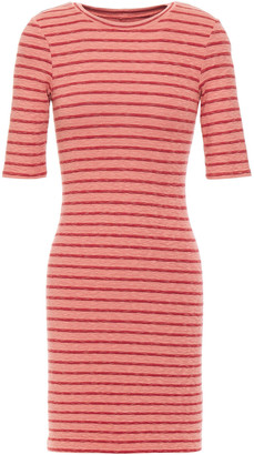Enza Costa Striped Ribbed-knit Mini Dress