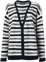The Elder Statesman striped cashmere cardigan