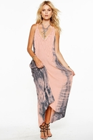 Jens Pirate Booty Seaweed Maxi Dress in Fuzzy Peach/Storm