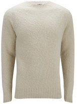 Ymc Geelong Brushed Wool Knitted Jumper Exclusive To Coggles - Cream